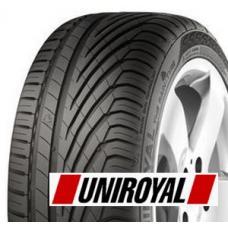 """Letní pneumatika Uniroyal Rainsport 3 je vysoce komfortní pneumatika s nejmodernějšími technologiemi. Jak je tomu již zvykem, pneumatiky Uniroyal se specializují na jízdu na mokru a za deště. Uniroyal Rainsport 3 překonala všechny předchůdce a na mokré vozovce je přímo brilantní. Hlavní příčinu takového úspěchu přičítá tato pneumatika takzvané """"žraločí kůži"""" ve dvou obvodových drážkách. Vývojáři se nechali inspirovat plavkami Speedo, jejichž povrch zvládá odpor vody lépe než klasické materiály, což vedlo až k zákazu těchto plavek na závodech. U pneumatik povrchová úprava """"žraločí kůže"""" pomáhá snižovat vodní turbulence a urychluje odvod vody z pneumatiky. Kromě výborných výsledků na vodě tato pneumatika také přináší velice dobrou vodivost a tím ulehčuje řízení a průjezd zatáčkou. Nebojíme se říci, že  pneumatika Uniroyal rainsport 3 určí směr pro další vývoj v tomto průmyslu."""