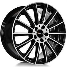 """alu kola AVUS RACING AC-M07 černá-leštěné čelo 8,5x20"""" 5x112 ET35 66,6"""