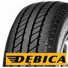 Letní pneumatika DEBICA presto lt je vhodná pro dodávková a lehká nákladní vozidla. Obvodové drážky běhounu této pneumatiky rychle odvádí vodu a zabraňuje vzniku aquaplaningu. Robustní konstrukce pneumatiky DEBICA presto lt umožňuje vyšší zatížení. Je odolná proti poškození. Směs pryže je pružnější a snižuje valivý odpor. Koupě pneumatik DEBICA presto lt je efektivní řešení pro ty, kteří dávají důraz na spolehlivost, bezpečnost a kvalitu jízdy.