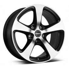 Barva: leštěné čelo-černá.  Alu kola Borbet CC mají uhlazený design s pěti rameny rozšiřujícími se k límci alu kola. Leštěné čelo v kombinaci s černou barvou dává kolu Borbet CC osobitý vzhled a originální provedení.