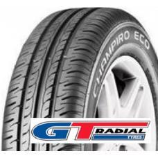 Nová generace komfortních pneumatik GT RADIAL Champiro Eco je určena předevší pro menší a střední vozidla, kterým přináší vyvážený výkon  Třídrážkový dezén poskytuje dobrou stabilitu a zaručuje bezpečnou jízdu a přilnavost na mokré i suché vozovce. Moderní konstrukce dezénu minimalizuje hlučnost v souladu s EU směrnicemi.