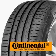 Continental PremiumContact 5 je prémiová komfortní pneumatika pro automobily střední třídy, kompaktní vozy i luxusní limuzíny. Tato pneumatika nabízí nejmodernější technologie, které jsou zúročeny v jízdní vlastnostech, komfortu i šetrnoti životního prostředí. Může se pochlubit mimořádně krátkou brzdnou dráhou na suchých i mokrých vozovkách (díky optimalizovaným 3D hranám), nízkým valivým odporem, bezpečnými jízdními vlastnostmi a pohodlným handlingem. Pneumatika Continental PremiumContact 5 je všestranně výjimečná pneumatika, což dokazují velmi dobré výsledky v testech.