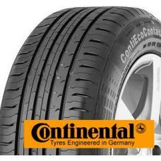 CONTINENTAL ECOCONTACT 5 – letní pneumatiky.  Nová konstrukce dezénu snižuje valivý odpor hlavně na mokrém povrchu vozovky, snižuje brzdnou dráhu. Nižší valivý odpor snižuje spotřebu paliva a prodlužuje životnost pneumatiky. Díky běhounu je jízda na těchto pneumatikách bezpečná.